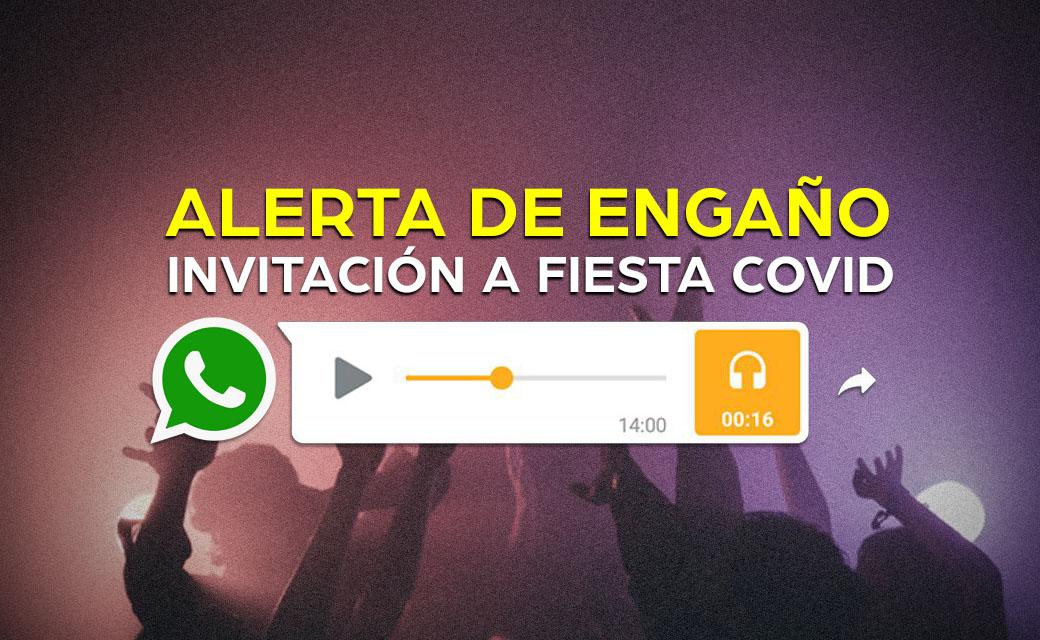 FIESTA COVID ALERTA DE ENGAÑO vg