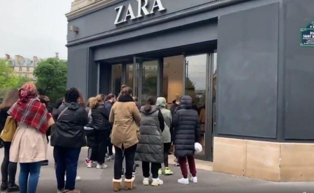 europeos abarrotan tiendas de ropa