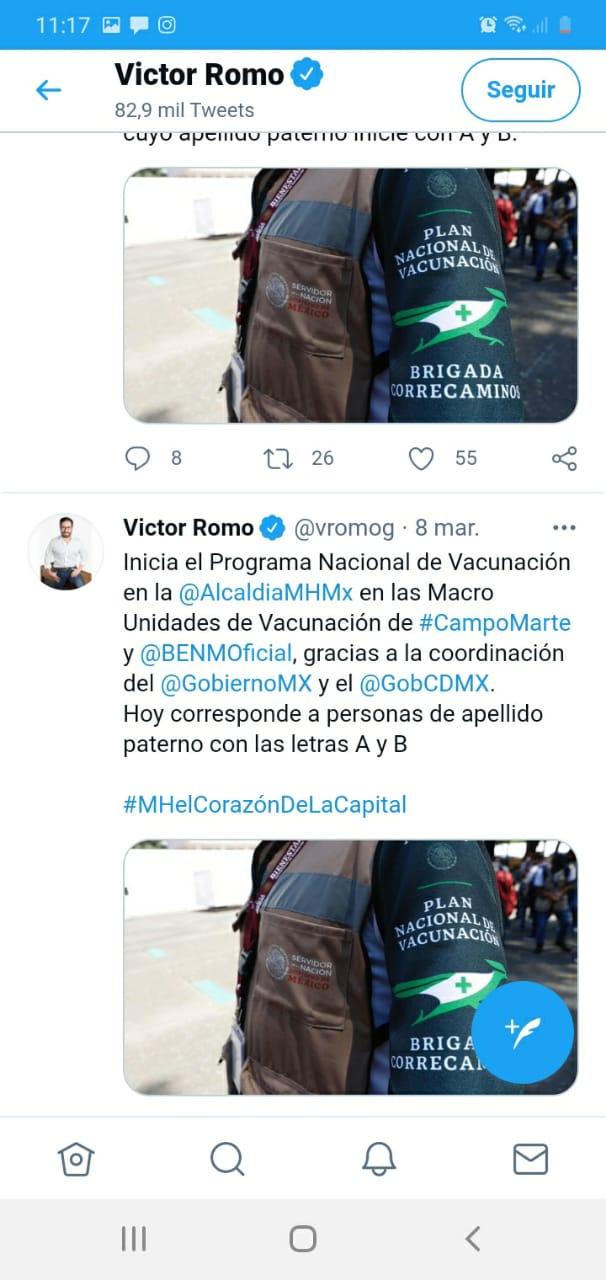 Víctor Romo se 'pasea' en centros de vacunación de MH para tomarse fotos; IECM aplica medida cautelar 6