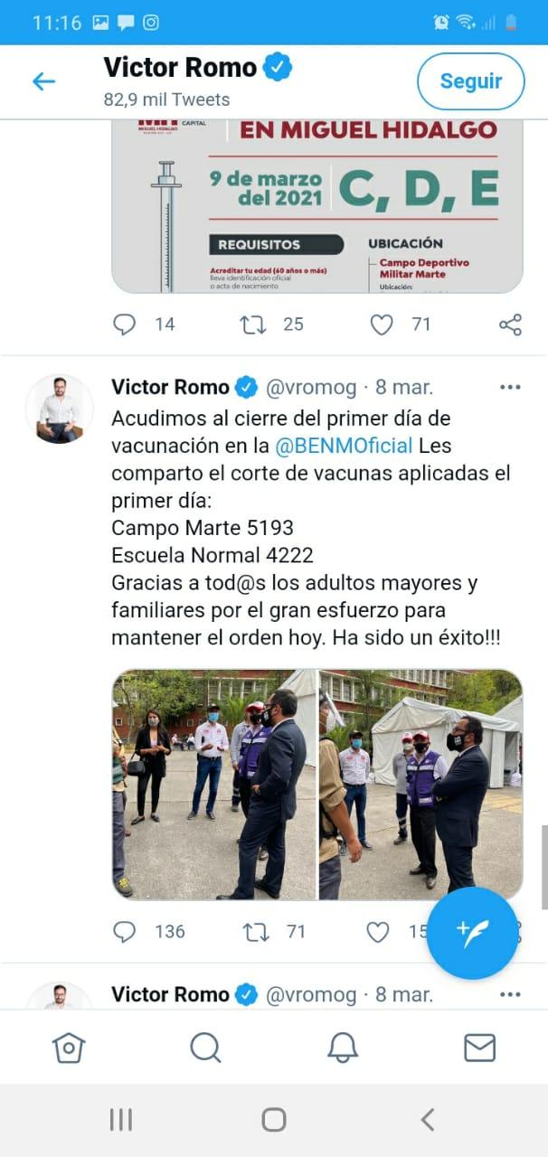 Víctor Romo se 'pasea' en centros de vacunación de MH para tomarse fotos; IECM aplica medida cautelar 8