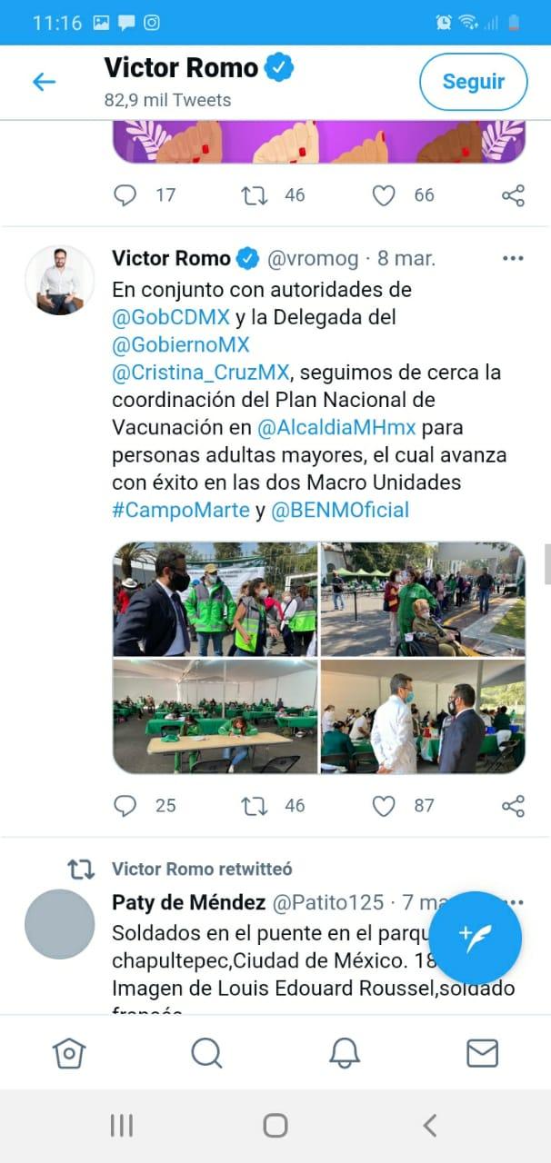 Víctor Romo se 'pasea' en centros de vacunación de MH para tomarse fotos; IECM aplica medida cautelar 9