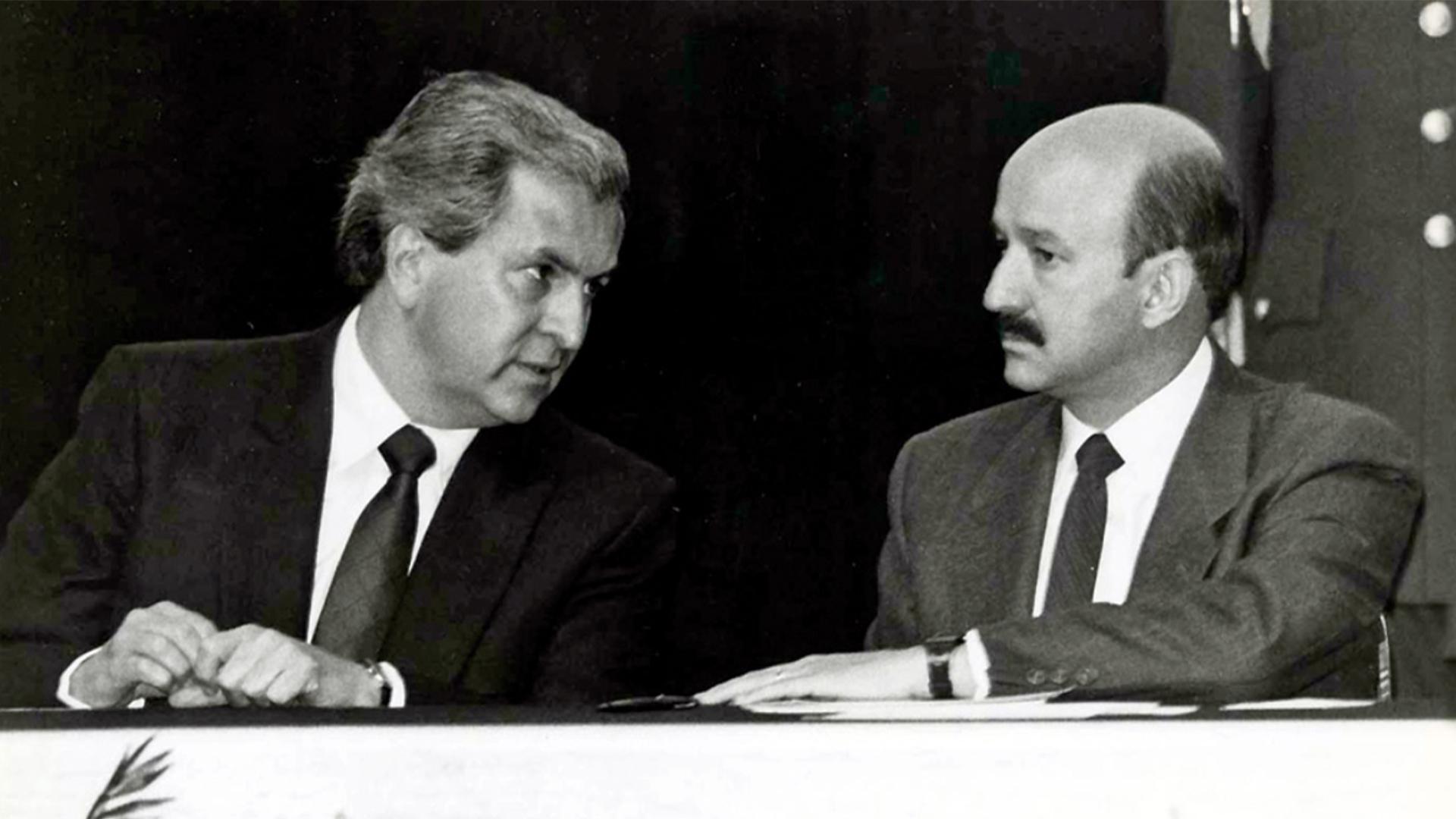 Emilio Lozoya Thalmann y Carlos Salinas de Gortari
