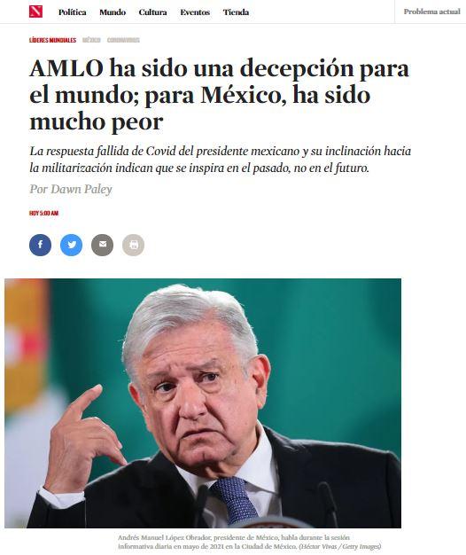 AMLO decepcionó al mundo. Los ricos no pagan impuestos y los militares ganaron poder, critican medios internacionales 3