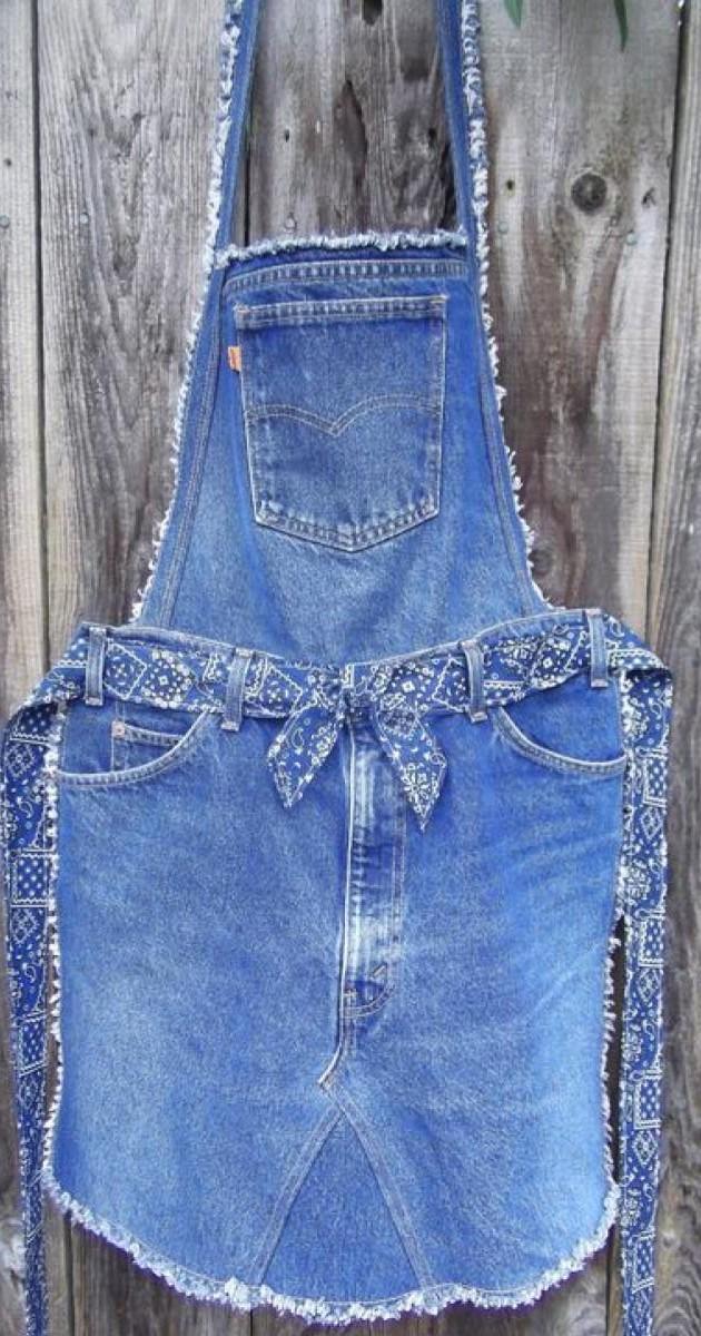 Cómo-reciclar-tus-jeans-usados-Mandil