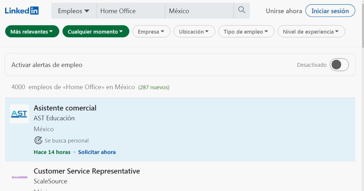 Ofertas-de-empleos-en-casa-LinkedIn