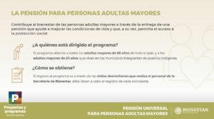 La pensión para adultos mayores es universal