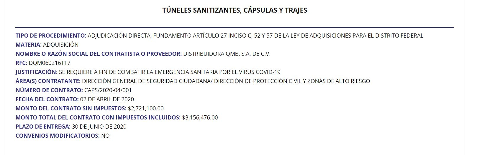 layda sansores contratos alvaro obregon tuneles sanitizantes 1