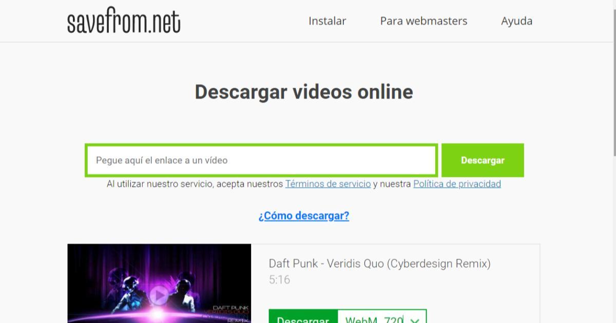 Como-descargar-videos-canciones-YouTube-2021-Savefrom