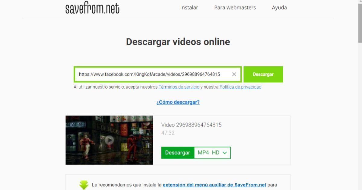Cómo-descargar-videos-de-Facebook-Savefromnet