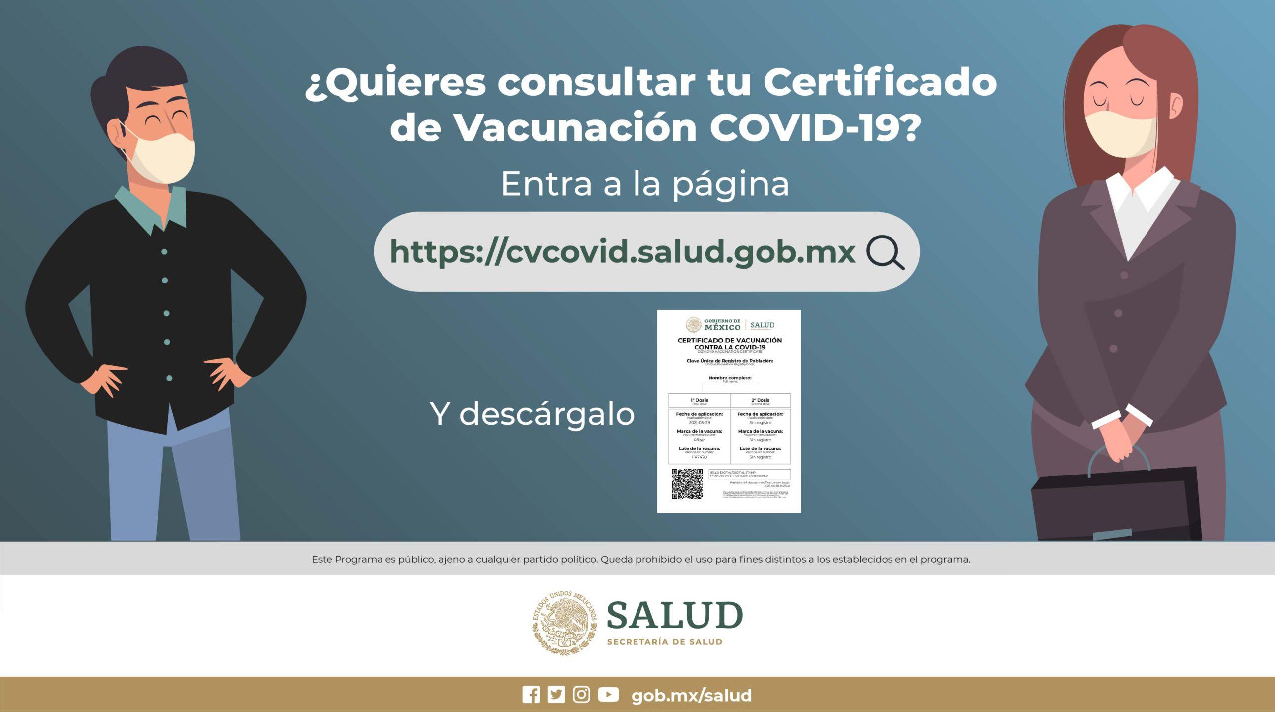 En esta página puedes descargar GRATIS el certificado de vacunación