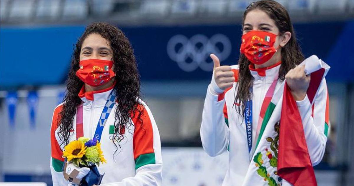 Medallistas-mexicanas-bronce-clavados-soncronizados-Tokio-2020