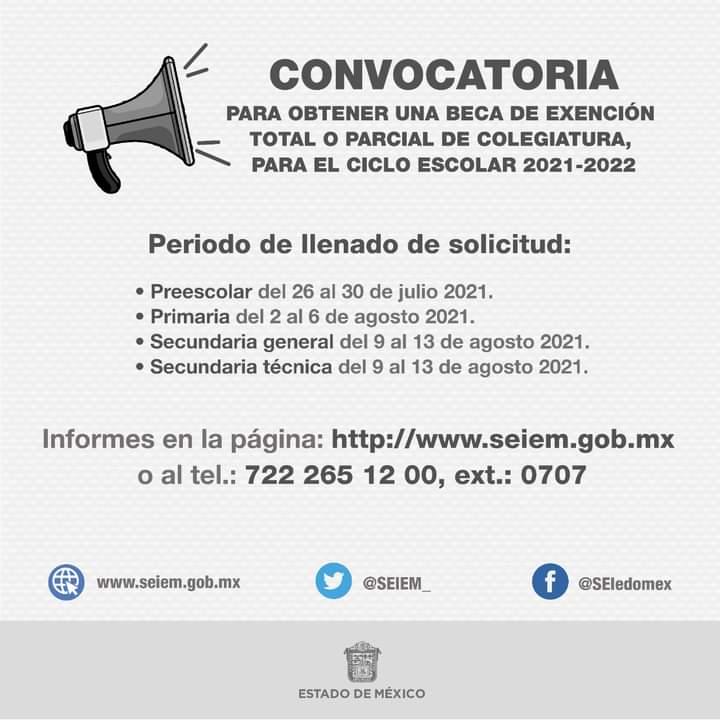 El próximo lunes inicia el registro para las Becas SEIEM 2021 | Foto: Secretaría de Salud Edomex