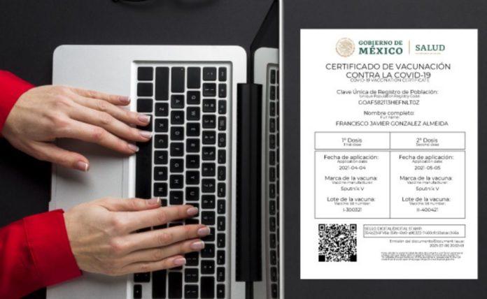 Estas son las opciones para obtener el certificado de vacunación | Foto: Twitter Secretaría de Salud