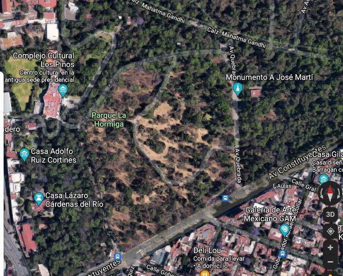En la tercera sección de Chapultepec también puedes practicar   Foto: Captura de pantalla Google Maps