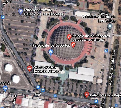 En el estacionamiento de Ciudad Deportiva hay espacio para practicar   Foto: Captura de pantalla Google Maps