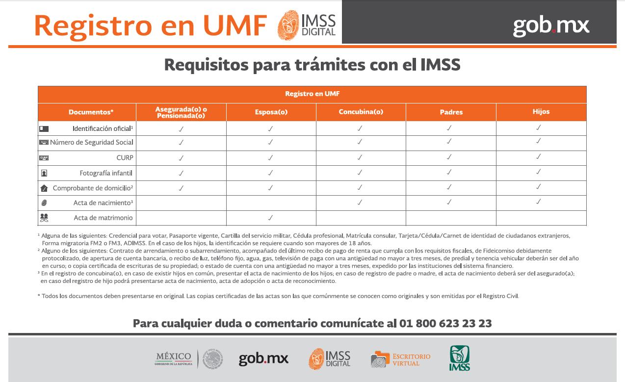 Estos son los documentos que necesitas para el registro   Foto: IMSS