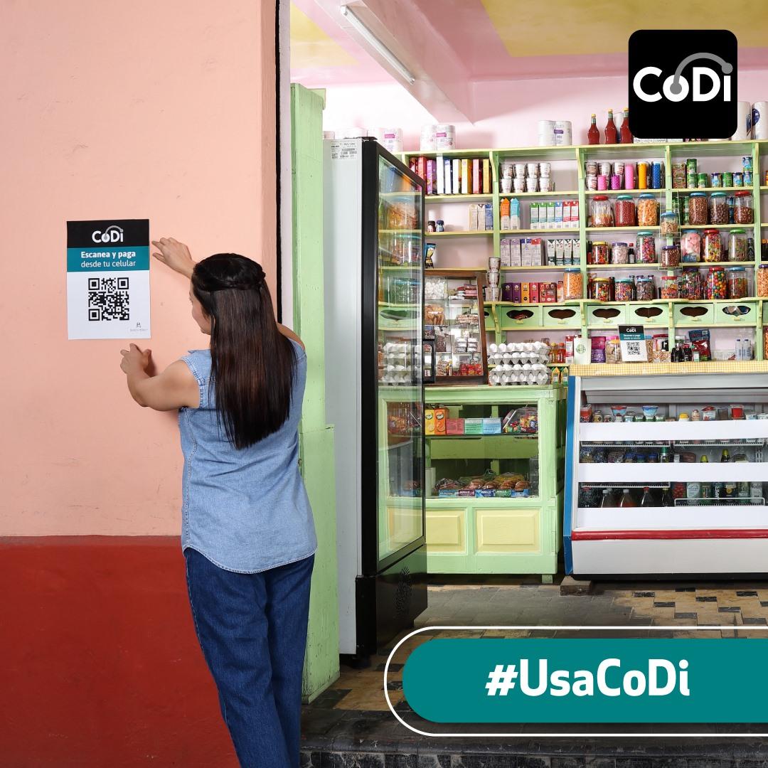 Si ves este letrero en alguna tienda o establecimiento, podrás pagar con CoDi | Foto: Facebook CoDi