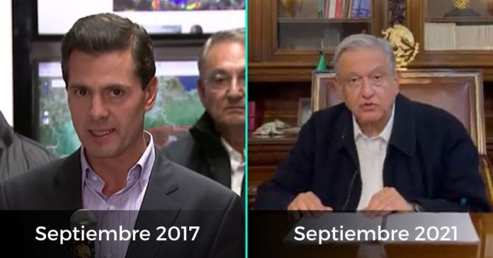 AMLO PEÑA NIETO MENSAJE SISMOS SEPTIEMBRE 2017 2021