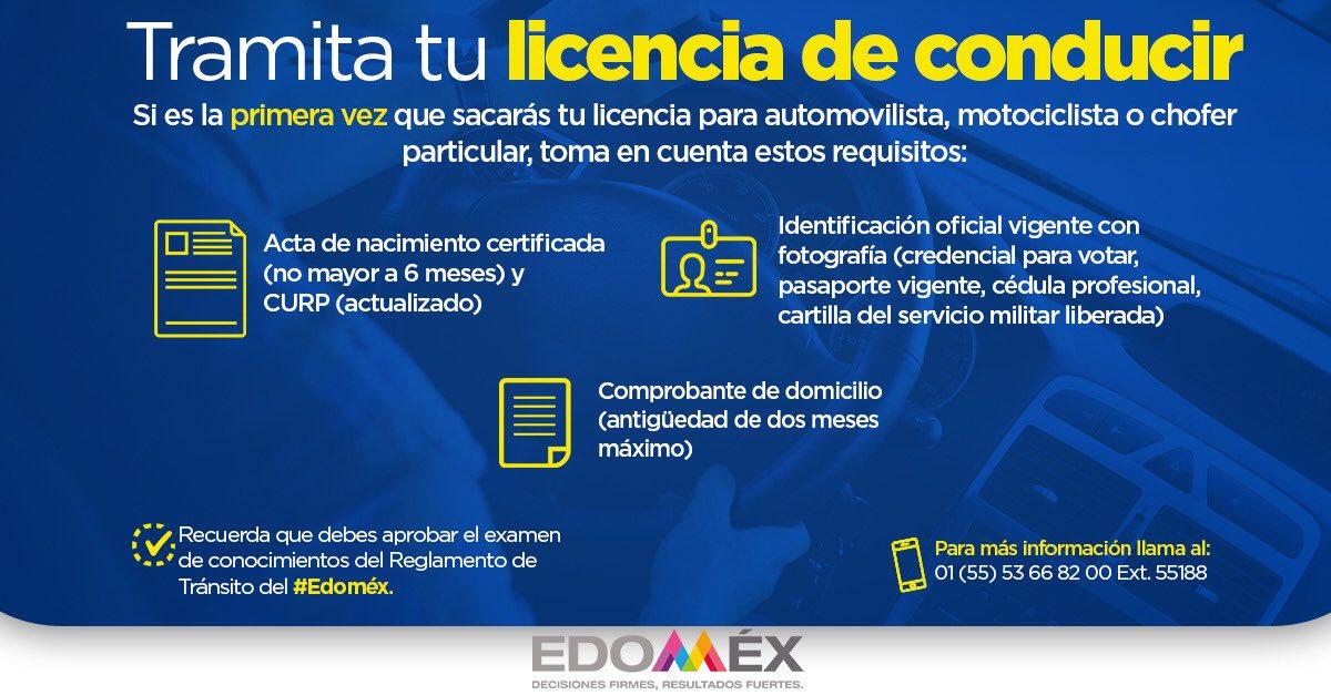 Consulta los requisitos para tramitar la licencia de conducir de Edomex   Foto: Twitter GEM
