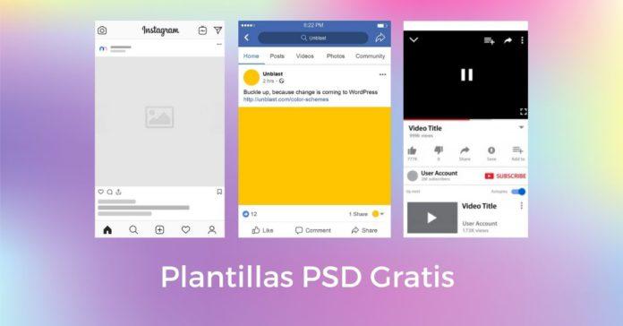 Tamaños para redes sociales 2021 y plantillas PSD para descargar gratis portada