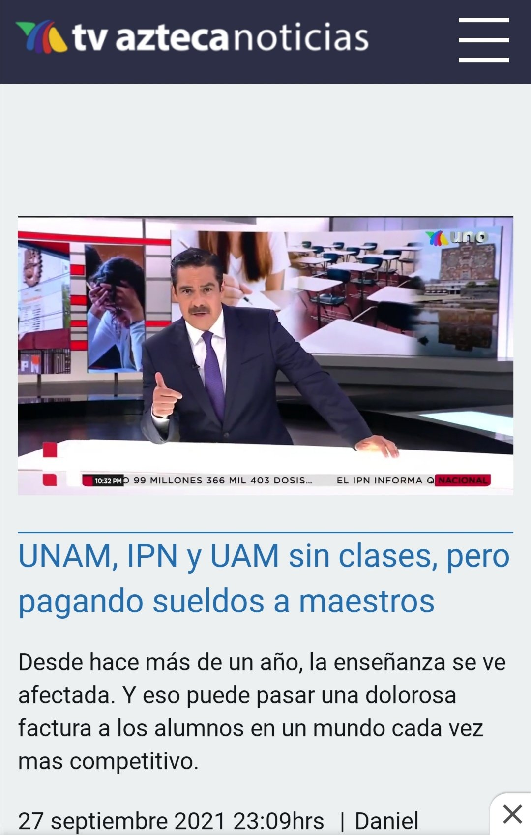 Tv Azteca se lanza contra la UNAM. Cobran sin trabajar, dice la televisora de Ricardo Salinas Pliego 1