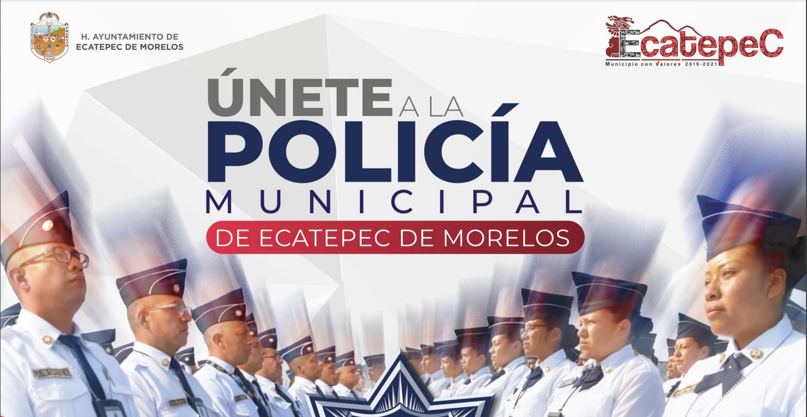 Consulta la convocatoria de la Policía Municipal de Ecatepec   Foto: Gobierno Ecatepec