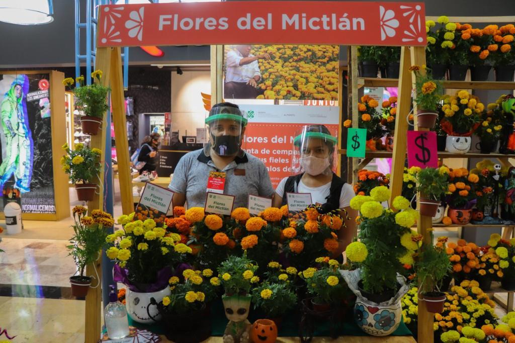 Estos son los lugares donde puedes comprar flores de cempasúchil | Foto: SEDEMA