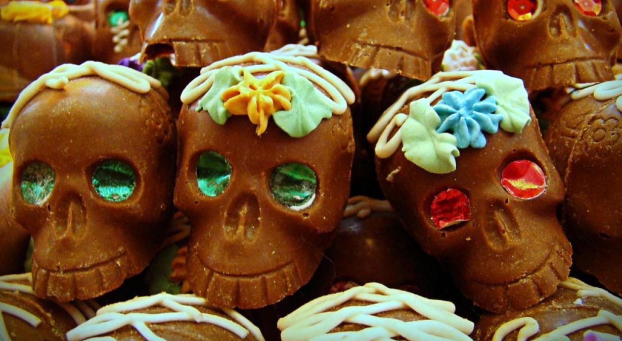 Calaveras-de-chocolate-Día-de-Muertos