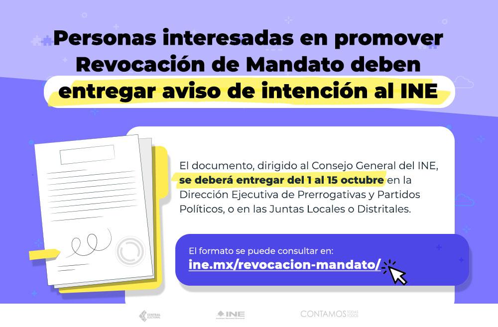 Esta es la fecha en la cual iniciará la reunión de firmas para la revocación de mandato | Foto: Twitter INE